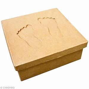 Boite En Carton À Décorer : bo te carr e avec passe partout pieds en carton boite en carton d corer creavea ~ Melissatoandfro.com Idées de Décoration