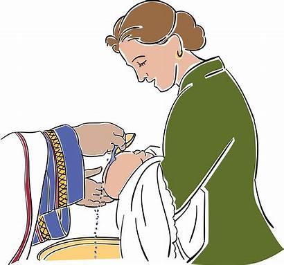 Baptism Catholic Clip Clipart Infant Symbols Religious