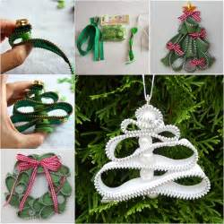 wonderful diy zipper tree ornaments