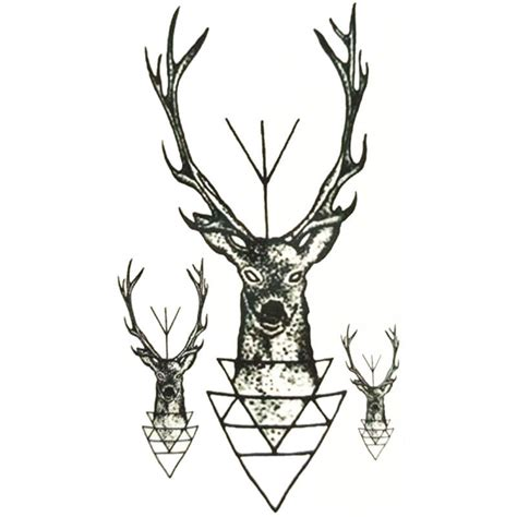 tattoo cerf geometrie  school boutique kolawi