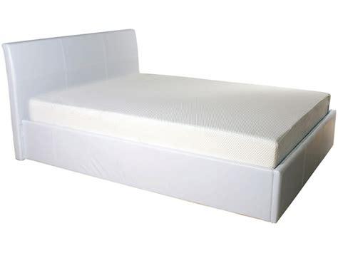 Gfw Denver 3ft Single White Faux Leather Ottoman Lift Bed