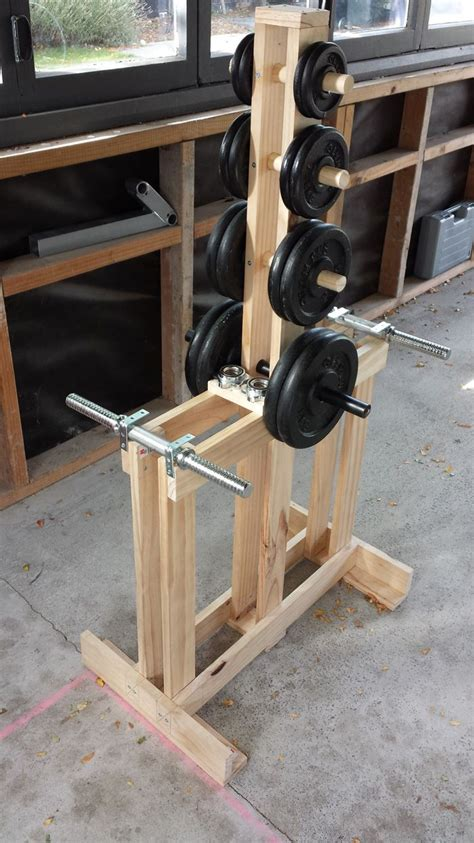 build a standing wooden dumbbell rack wood dumbbell tree stand home gym