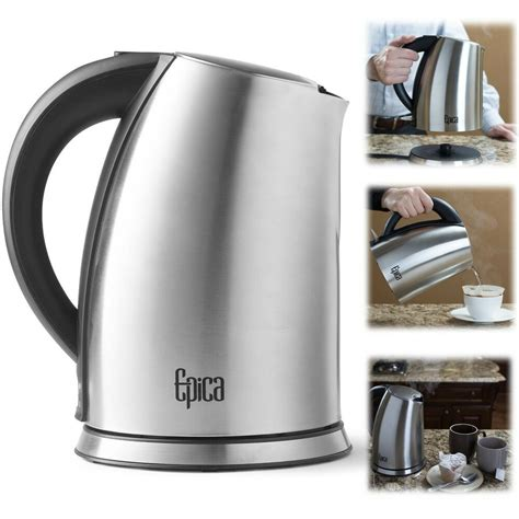 kettle water tea electric coffee cordless stainless steel pot boil kettles maker litre epica temperature 7l
