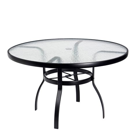 48 glass table top woodard deluxe 48 quot round glass top dining table 826148w