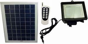 Remote control solar powered flood light