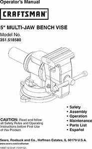 Craftsman 351518580 User Manual Jaw Bench Vise Manuals And