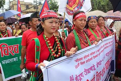 Peoples Nepal Indigenous Protests Observed August Streets