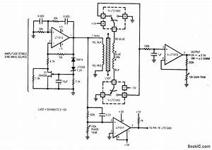 Lvdt Signal Conditioner Mechanical Position - Signal Processing - Circuit Diagram