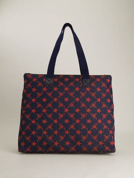 vivienne westwood monogram  star print shoulder bag