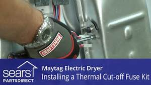 How To Replace A Maytag Electric Dryer Thermal Cut-off Fuse Kit