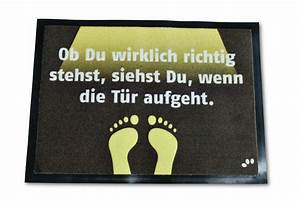 Fußmatte Mit Spruch : die fu matte ob du wirklich richtig stehst besticht ~ Watch28wear.com Haus und Dekorationen