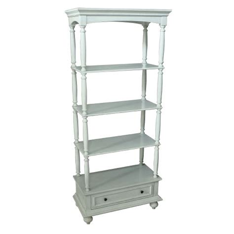 Etagere With Drawers by Crestview Collection Channing 1 Drawer 3 Shelf Antique