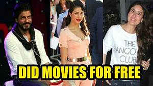 These Bollywood actors once had to do movies for FREE ...