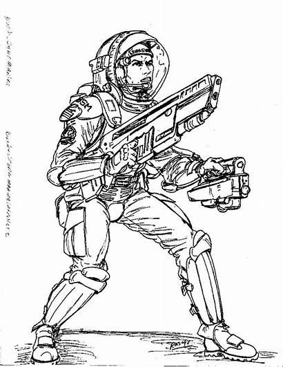 Military Combat 2300ad German Spacesuit Deviantart Drawings