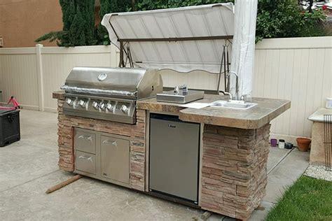 premade kitchen islands diy bbq gas grills and outdoor kitchen frame kits