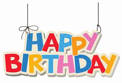 Birthday Happy Colorful Clipart Hanging Yopriceville Transparent