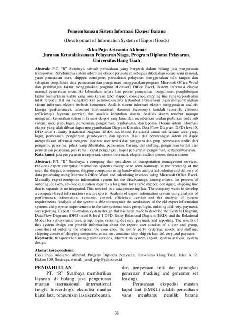 Jurnal pdp vol 4 no 2 ekka pengembangan sistem informasi