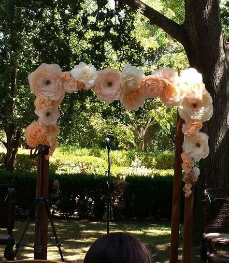 Paper Flower Arch For A Wedding I Do Ceremony