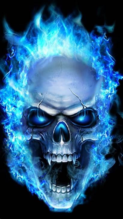 Skull Iphone Flame 3d Graffiti Cool Wallpapers