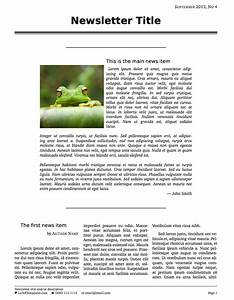 latex templates newsletters With latex newspaper template
