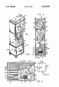 Patent Us4121416 - Miniature Grandfather Clock