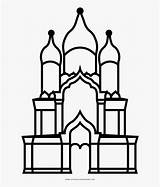 Cathedral Outline Alexander Coloring Drawing Nevsky Jam Clipartkey sketch template