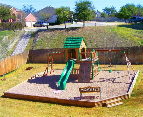 Pea Gravel Play Area In Backyard