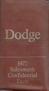 1977 Dodge Pickup Truck  U0026 4x4 Repair Shop Manual Reprint