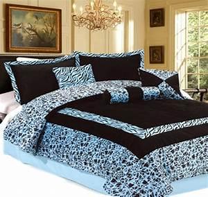 15pc, Blue, Luxury, Safarina, Faux, Fur, Comforter, W, Matching