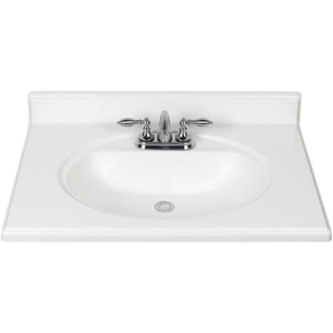 31 vanity top with sink shop white cultured marble integral bathroom vanity top