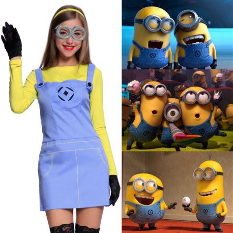minion damen kostüm damen karneval kost 252 m minions minion kost 252 m despicable me fancy dress ebay
