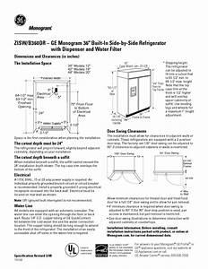 Monogram Zisw  B360dr Manuals