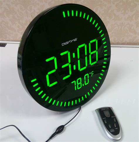 large big screen remote led digital wall clock light