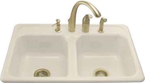 almond colored kitchen faucets kohler k 5817 4 47 delafield self kitchen sink