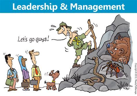 leadership  management cartoon readytomanage
