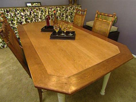 how to build a dining room table with how to build an octagon dining table hgtv