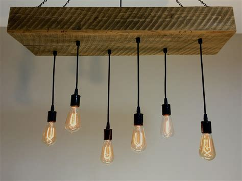 buy hand crafted reclaimed barn wood  beam chandelier