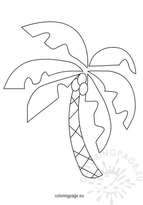 abc coconut tree coloring page coloring pages