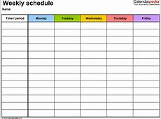 7+ family schedule template Procedure Template Sample