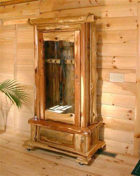 woodwork cedar gun cabinet plans  plans