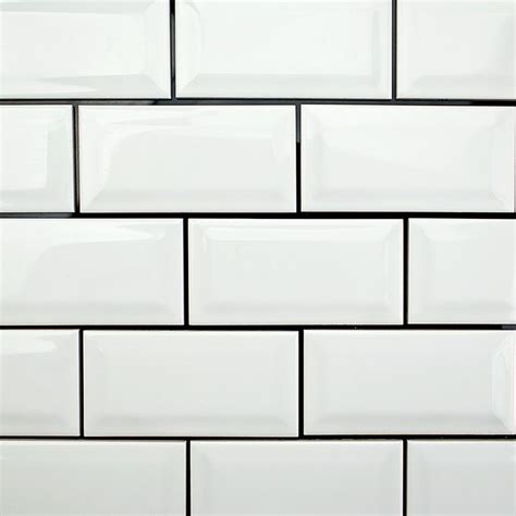 best 25 beveled subway tile ideas on white