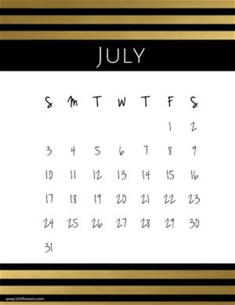 printable july calendar customize