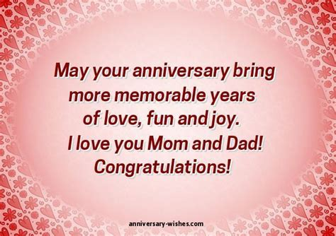 anniversary wishes  parents happy anniversary mom  dad