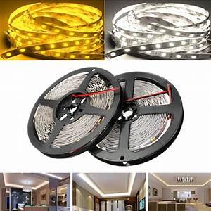 Ruban Led Adhésif : ruban led strip flexible smd 5050 blanc ou blanc froid 12v ~ Edinachiropracticcenter.com Idées de Décoration