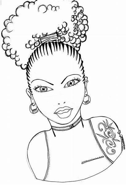 Coloring Pages Natural Hair African American Printable
