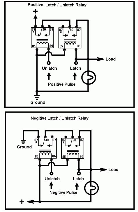 Latching Relay Use Momentary Button