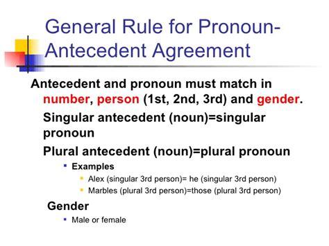 pronoun antecedent agreement examples business template