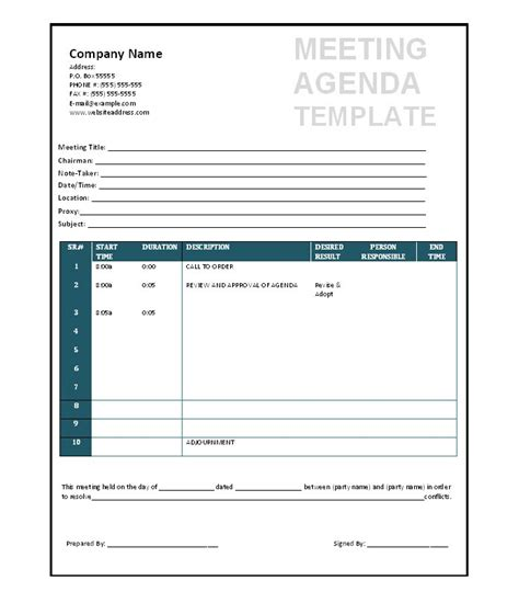 meeting schedule template 46 effective meeting agenda templates template lab