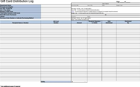 gift card tracking log template gift certificate template for free tidytemplates