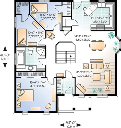 brick home floor plans economical three bedroom brick house plan 21270dr 1st